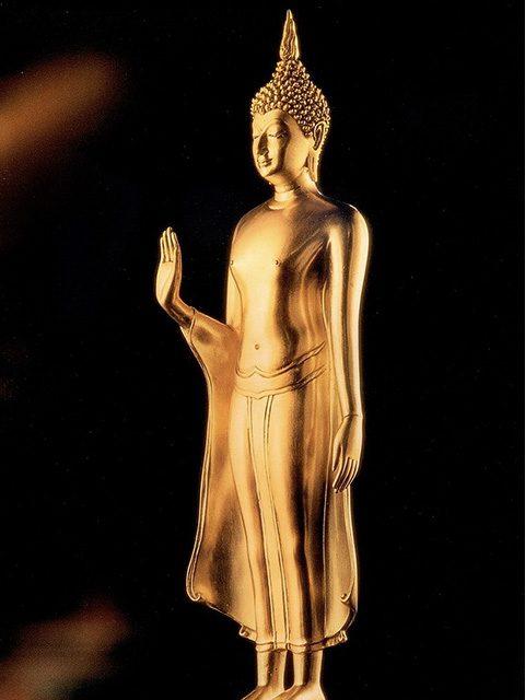 Buddha statue on day